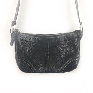 COACH | crossbody bag black dimpled leather.